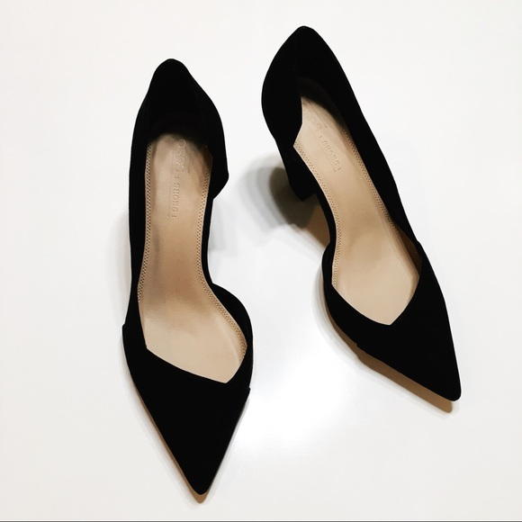 Asos Sapphire Black Wide Fit Pointed